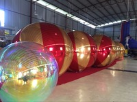 1m Inflatable Mirror Ball For Stage Decoration Fashion Inflatable Ballons