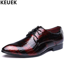 Big size Casual leather shoes Fashion luxury Men Dress Business shoes  Lace-Up Oxfords Male Flats Brogue Shoes Loafers 03A 32312058952a