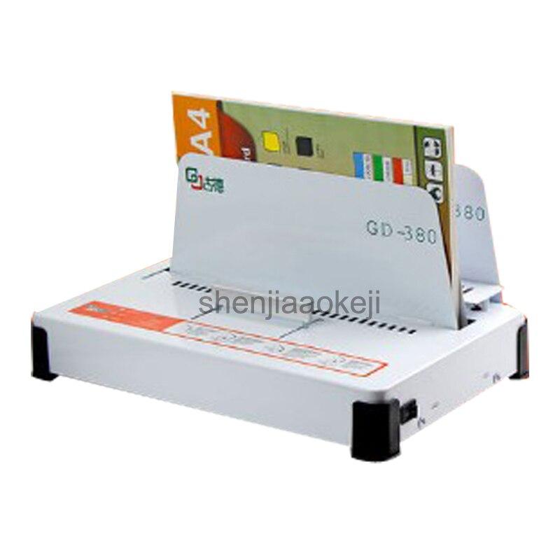 220V GD380 automatyczna topi się bindownica A3 A4 A5 książka koperta segregator 100w zszywanie grubość 550 arkuszy (70g)