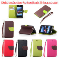 For Sony Xperia Z1 Mini Luxury PU Leather Magnetic Flip Stand Cover For Sony Xperia Z1