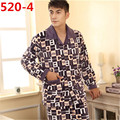 Новый мужской Пижамы Зима Теплая Мужские Фланелевые Пижамы Мужчины Lounge Пижамы Установить Плюс Размер 4XL 5XL