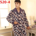 New Men's Pajamas Winter Warm Flannel Mens Pyjamas Men Lounge Pajama Set Plus Size 4XL 5XL