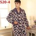 Nuevos hombres Pijamas de Invierno de Franela Caliente Pijamas Para Hombre Hombres Pijama Conjunto de Salón Más Tamaño 4XL 5XL