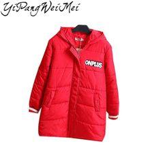 YiPangWeiMei Плюс Размер женские Зимние Куртки И Пальто 2017 Новых Осень Пальто Куртки Женщины Парка Женщина Одежда Письмо Долго пальто