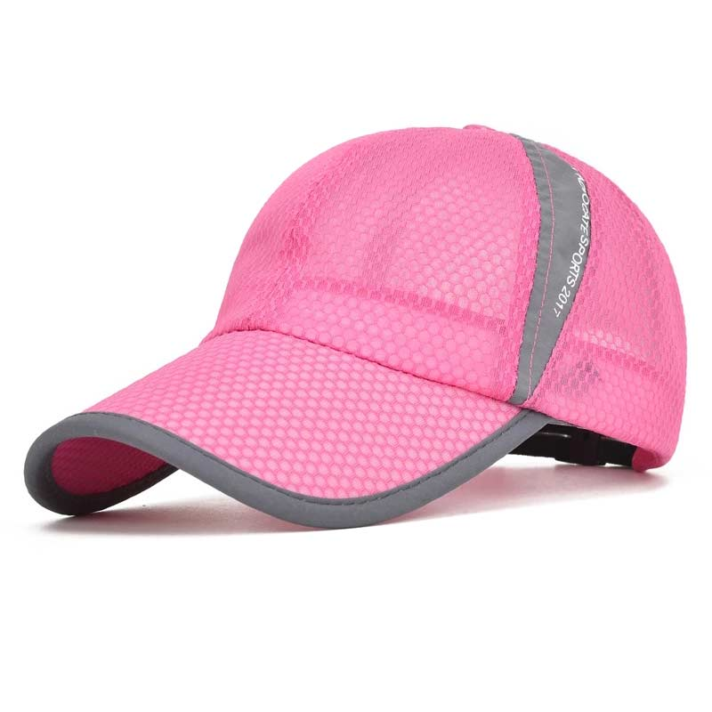 Fashion Korean Summer Men Women Mesh Hat With Sweatband Breathable  Adjustable Sunscreen Baseball Cap New-in Baseball Caps from Apparel  Accessories on ... 477eaae45ca