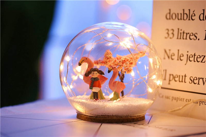 Creative LED Crystal Ball Design Table Lamp Room Decor Bedside Night Light For Girls Baby New Year Christmas Birthday Gift (27)