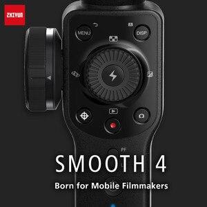 Image 5 - Zhiyun lisse 4 Smartphone tenu dans la main 3 axes sans brosse stabilisateur de cardan pour iphone 5/6/7 X pour gopro action camera pk osmo 2