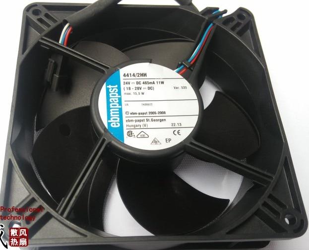 Original ebm fan fan 4414 / 2HH 12CM 24V 11W axial fans new original ebm papst iq3608 01040a02 iq3608 01040 a02 ac 220v 240v 0 07a 7w 4w 172x172mm motor fan