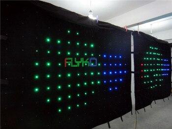 גואנגזו aliexpress led וילון p18 2 * 3 m משלוח חינם