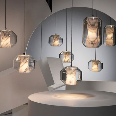 Modern Light Led Pendant Lamps Glass Marble Shade Nordic Pendant Lights Hanging Lamp Lighting Fixtures Home Decor Light Fixtures
