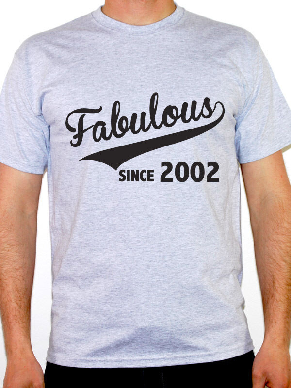FABULOUS SINCE <font><b>2002</b></font> - Birth Year / Birthday Gift / Novelty Themed Men's T-Shirt image