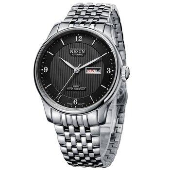 Switzerland Luxury Brand NESUN Automatic Self-wind Men's Watches Full Stainless Steel relogio masculino Waterproof clock N9601-6