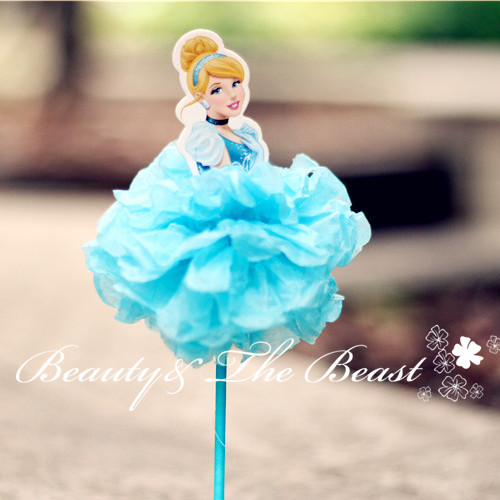 7.2u0027u0027 High Princess Cinderella Aurora Ariel Cupcake Toppers Birthday Party  Decorations Kids Baby Shower