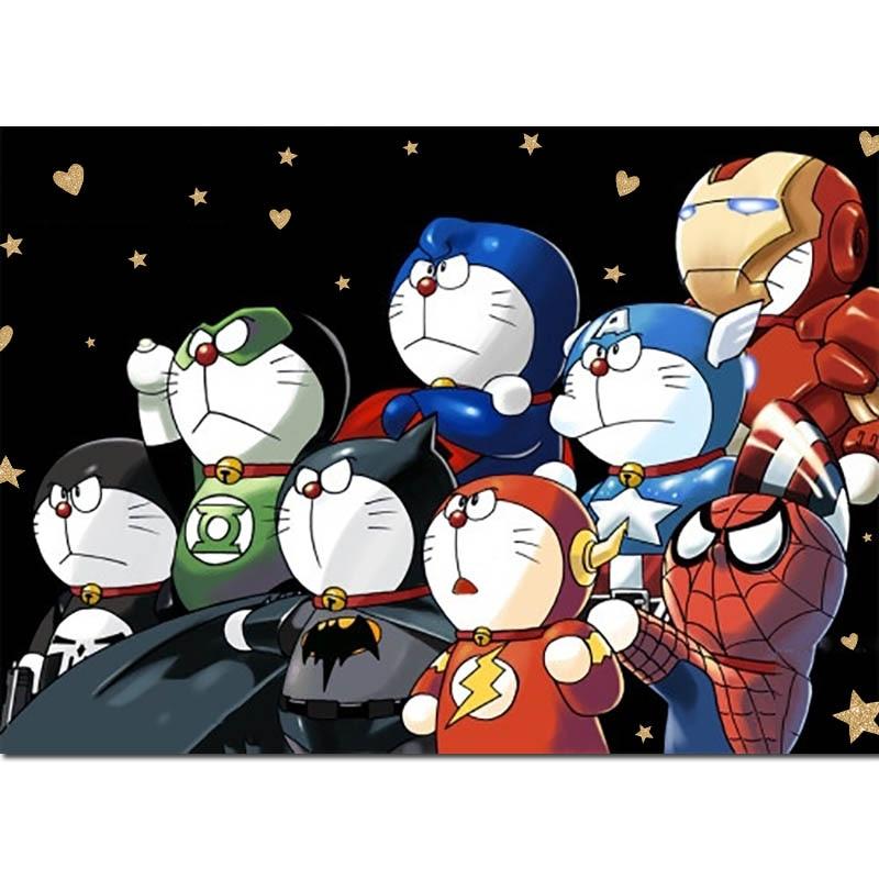 Diamond Painting Doraemon Anime cosplay Full Drill Embroidery Robot Cat Cartoon Cross-Stitch Rhinestone Home Decor Z90