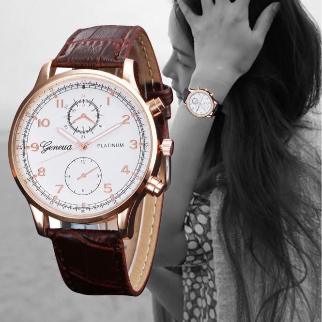 Watch Lover's Watches Men Women PU Leather Famous Brands Quartz Analog Watch Military Clock Relogio Masculino