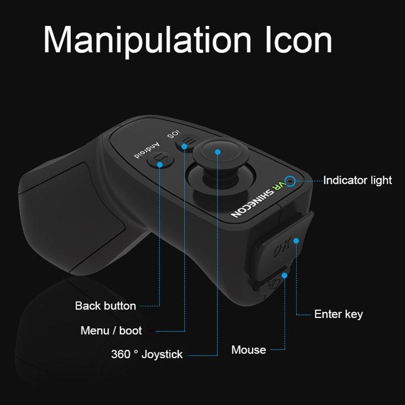 Wireless-Bluetooth-Gamepad-VR-Box-Controller-VR-Shinecon-2-0-Gamepad-Selfie-Remote-Shutter-Game-Controller