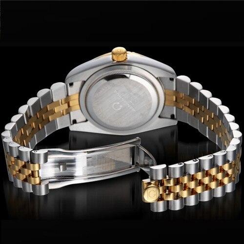 Carnaval luminoso impermeable totalmente automático de cuarzo para hombre reloj del ejército joyería de diamantes de imitación relojes masculinos de acero de marca de lujo - 5
