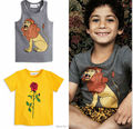 2017 Spring summer kids sweden LION PATTERN  styles cotton girls boys short sleeved t shirts boys girls clothing vetement enfant