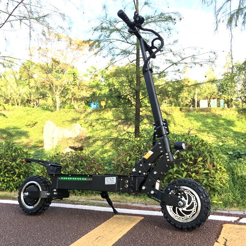 KüHn Flj Leistungsstarke Elektrische Roller 60 V 5600 W 11 Zoll Off Straße Große Rad Schnelle Ladung Motor E Roller Kick Faltbare Erwachsene Roller Roller Elektro-scooter