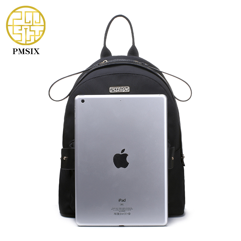 PMSIX 2017 Autumn Winter New Women Black Backpack Waterproof Fashion Travel  Backpack High Quality School Bags 970003-in Backpacks from Luggage   Bags  on ... 34ec29a3fa60a