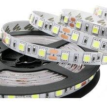 LED Şerit 5050 DC12V 60 LEDs/m 5 m/grup Esnek LED ışık RGB RGBW 5050 LED Şerit