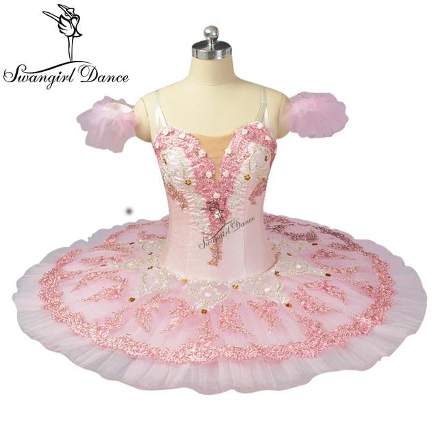 Pink Peach Fairy Professional Ballet Tutu With Flowers Ballet Professional Tutu For Adults Girls Ballet Tutu Dress BT9055