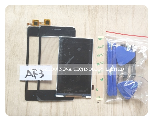 """4 """"черный Сенсорный Экран Для ZTE Blade AF3 T221 A5 Pro ЖК-Экран Дигитайзер Датчик + 3 М Наклейка + инструменты + отслеживая"""