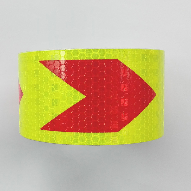5CMx400CM,Lime red arrow, Reflective adhesive tape, Reflective tape sticker for Truck,Car,Motorcycle,Free shipping. arrow pattern car body reflective warming mark sticker golden red silver 10 pcs