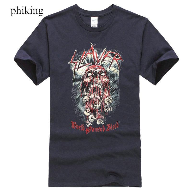 Slayer Herren World Painted Blood Skull T-Shirt