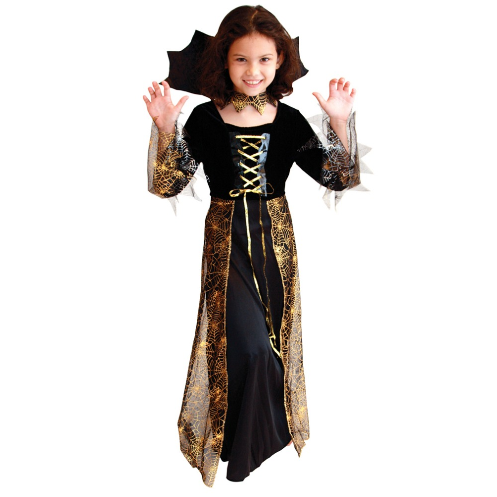 Halloween Ghost Costume For Kids Girls Spider Princess Witches ...