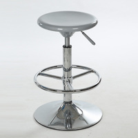 Yellow Coffe House Stool Tea Table Chair Round Footrest Wheel Foot Computer Stool Free Shipping