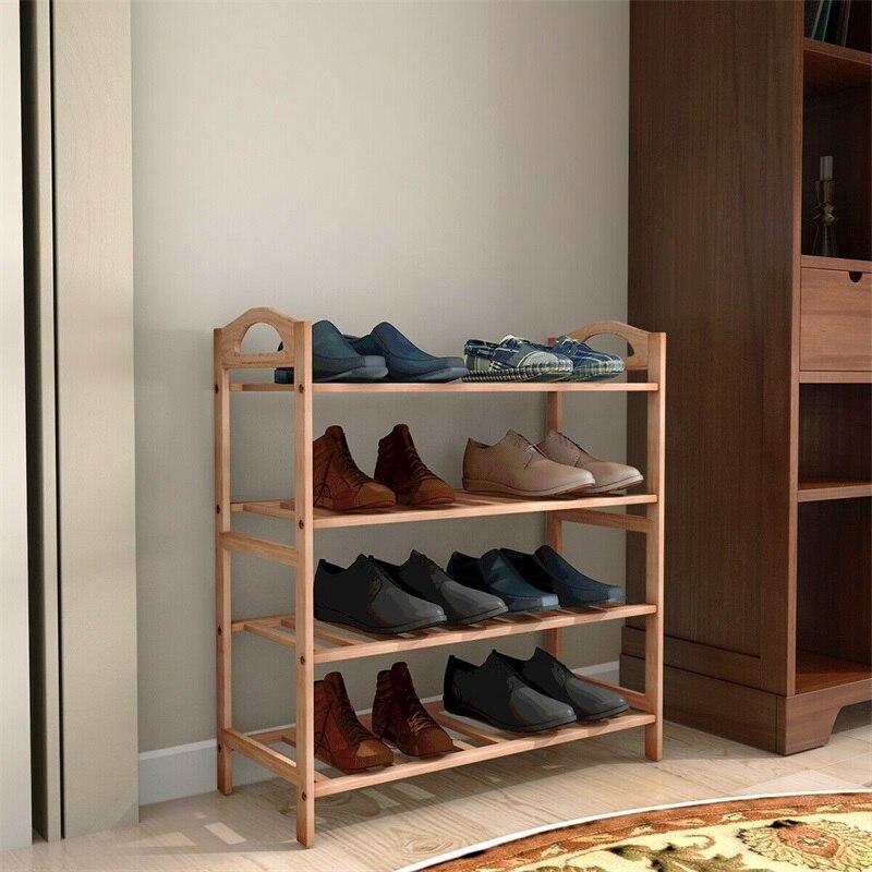 4 niveaux bambou étagère à chaussures rangement organisateur moderne de haute qualité chaussures Rack HW52610