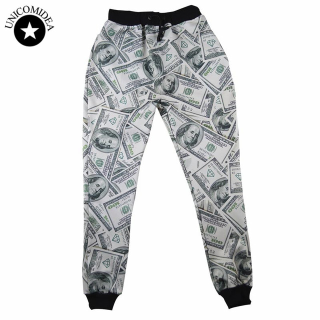 ea127572877 Funny 3D Funny Print US Dollar Sweatpants Joggers Pants Fashion Men Women's  Track Pants Sweat Pants brand Fashion Clothing