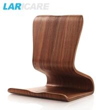 L-03 Brich & Walnut Wooden tablet stand work on 10inch tablet or phones,adjustable flexible, tablet holder