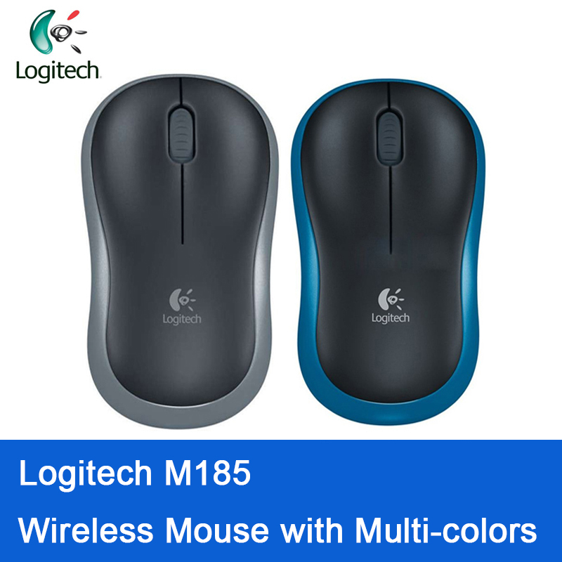 Original Logitech M185 Wireless Simple Fashion Mouse And Three Colors To Choose For Windows Mac Compatible With Official Test
