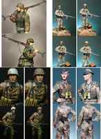 Unpainted Scale 1/16 120mm Modern man and Infantry 120mm figure Historical Resin Model Miniature Kit