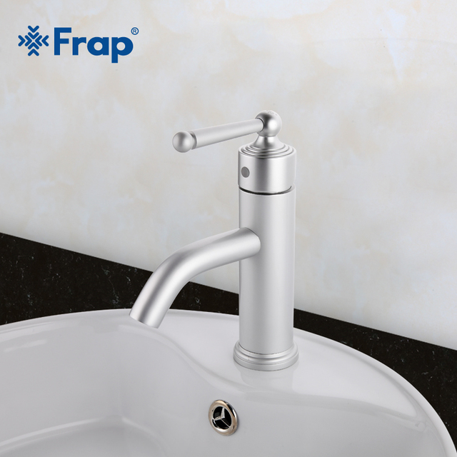 Frap New Arrival Modern Style Space aluminum Silver Basin Faucet Single Handle Cold and Hot Water Mixer F1052-12