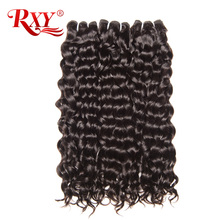 RXY Brazilian Hair Weave Bundles 1pc Water Wave Weave 100% Human Hair Weaving Natural Color Remy Hair Bundles