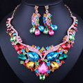 FARLENA Nueva Llegada Sistemas de la Joyería de Declaración de Moda de Lujo de Buena Calidad Marca Elegante Cristal Perlas Africanas Sistemas de La Joyería