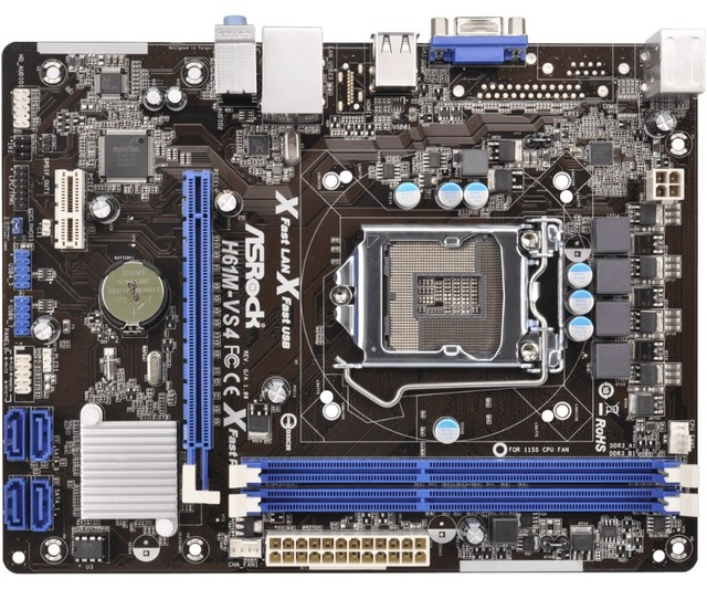 US $56 05 5% OFF Used, 100% original motherboard for ASRock H61M VS4 LGA  1155 DDR3 RAM 16G Integrated graphics Motherboard-in Motherboards from