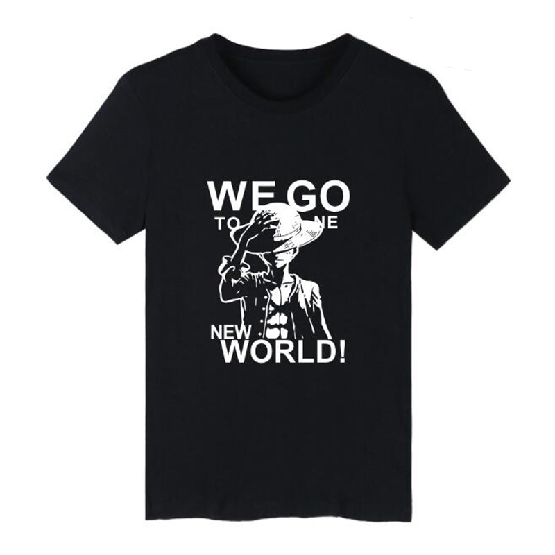 Mens Tshirts Summer One Piece T Shirt Men Monkey D Luffy T-Shirts Harajuku Short Sleeve Cotton Anime Zoro Ace Law Graphic Tees