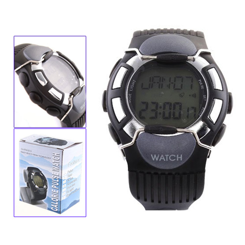 YCYS New Hot Sale Black Sport Pulse Heart Rate Calorie Counter Watch with Monitor
