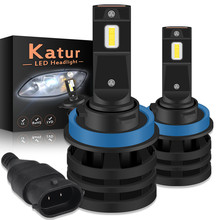 Katur H11 H16 H1 H4 H7 9005 9006 HB3 BH4 Automobile Diode Lamps LED Bulb Led 12000LM 55W Led Headlight Auto Led Car Fog Light(China)