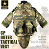 US Army CP Camouflage Tactical Vest 600D Nylon Molle Military Cs Paintball Vest Combat Vest