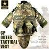 US Army CP Camouflage Tactical Vest 600D Nylon Molle Military Cs Paintball Vest Combat Vest