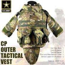 Армия США CP камуфляж тактический жилет 600D нейлон molle военный CS пейнтбол жилет боевой жилет