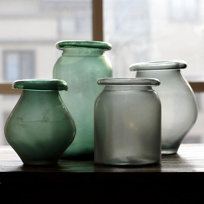 sobre la gran jarrn de vidrio arte en vidrio soplado a mano de