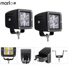 Marloo 2 шт. 3X3 дюйма Cube 20 Вт светодиодный свет работы авто внедорожник 4WD 4X4 внедорожный светодиодный вождения Туман лампы для Ford F150 мотоцикл 12 В 24 В