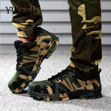 YWEEN Men Work Safety Boot Outdoor Steel Toe Cap Military Shoes Men Camouflage Puncture Proof Army Boots Plus Size Shoes