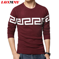 LONMMY M-5XL Christmas sweater pullovers mens Casual coat O-neck Fashion design Sweater men Knitted Imported-clothing 2016 New